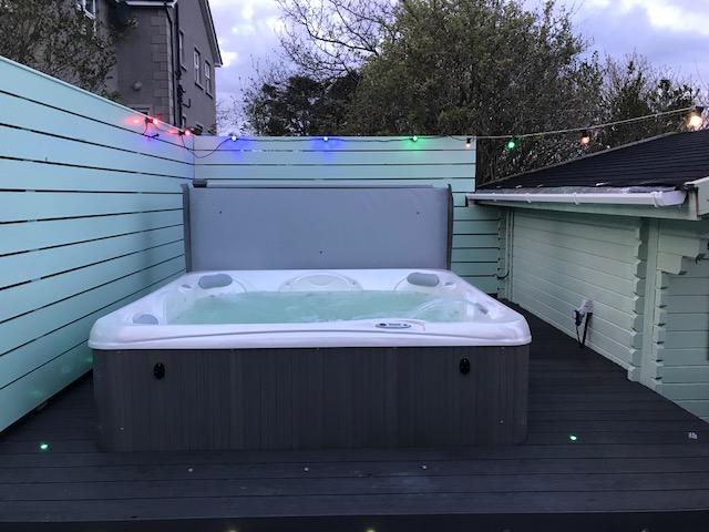 Hot Tub at dusk