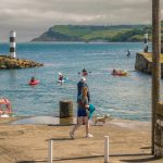 Carnlough Harbour summer scene